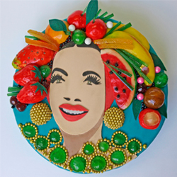 Finished cake - Carmen Miranda for House & Garden
