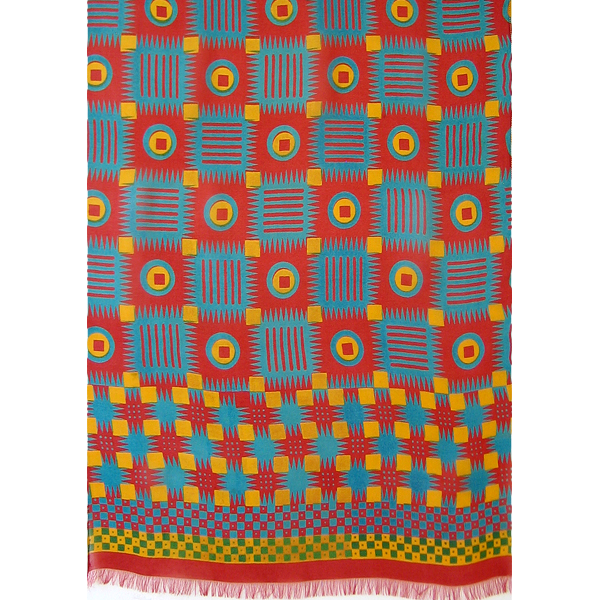 african_check_-_red_blue_yellow_flat_scarf