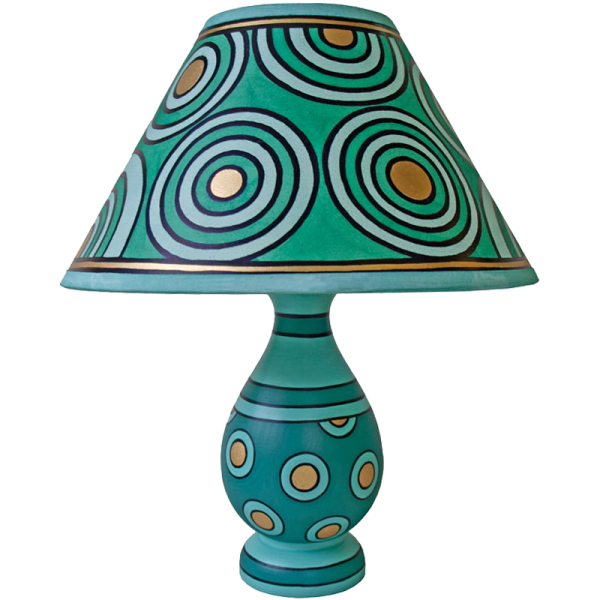 lamp_and_shade_-_green_circles