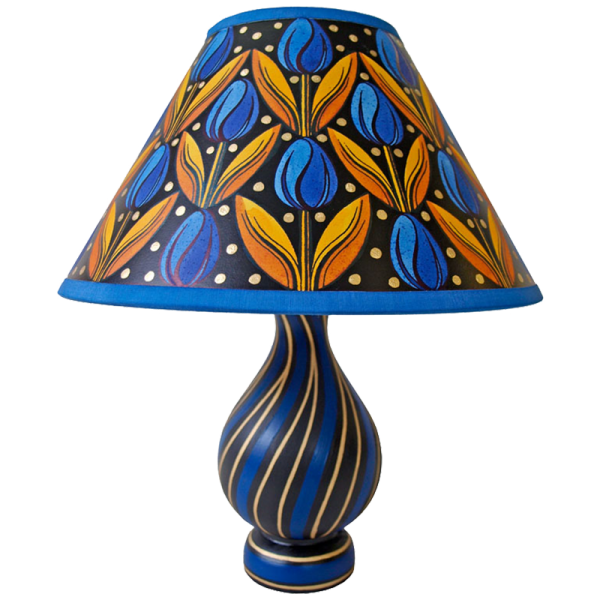 lamp_and_shade_-_tulips_blue