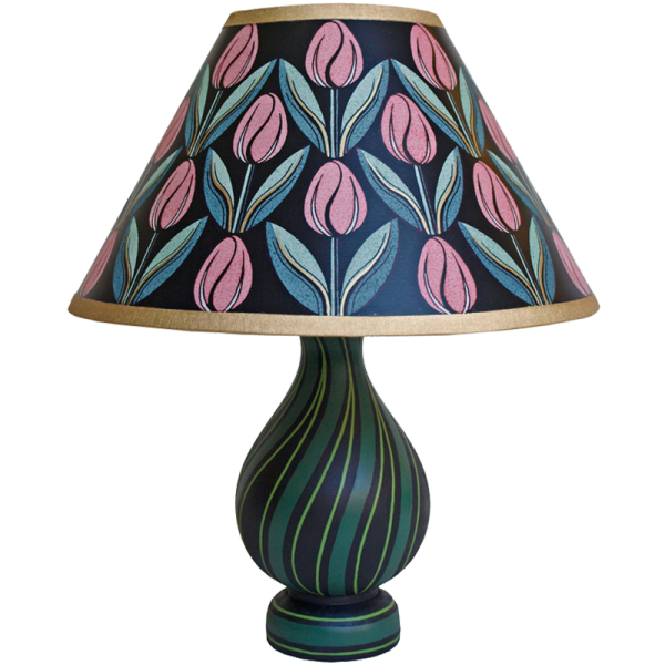 lamp_and_shade_-_tulips_pink