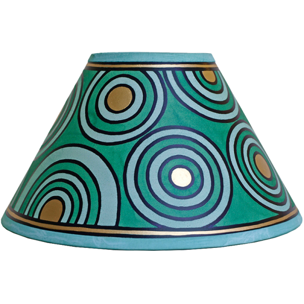 lampshade_-_circles_green_gold