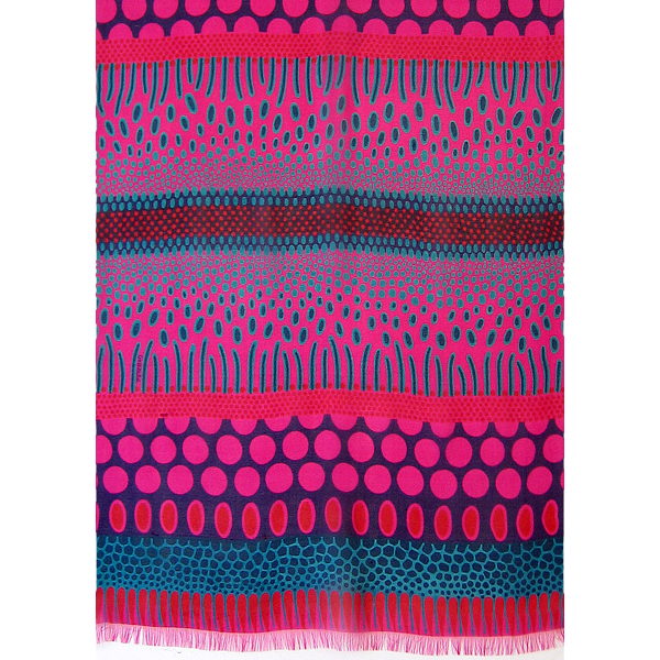 tropical_spot_-_pink_red_blue_flat_scarf